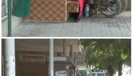 """Инвалидизирано лице се """"вдоми"""" пред  Матичното во центарот на Битола"""