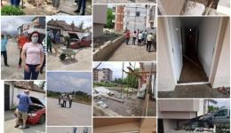 (фото)Последици од синоќешните поплави, Кризниот штаб на увид